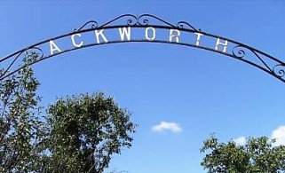 Ackworth cemetery sign