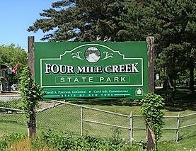 Four Mile Cr sign