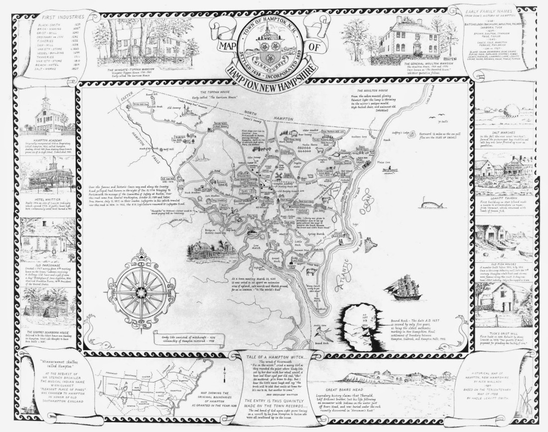 Hampton NH map